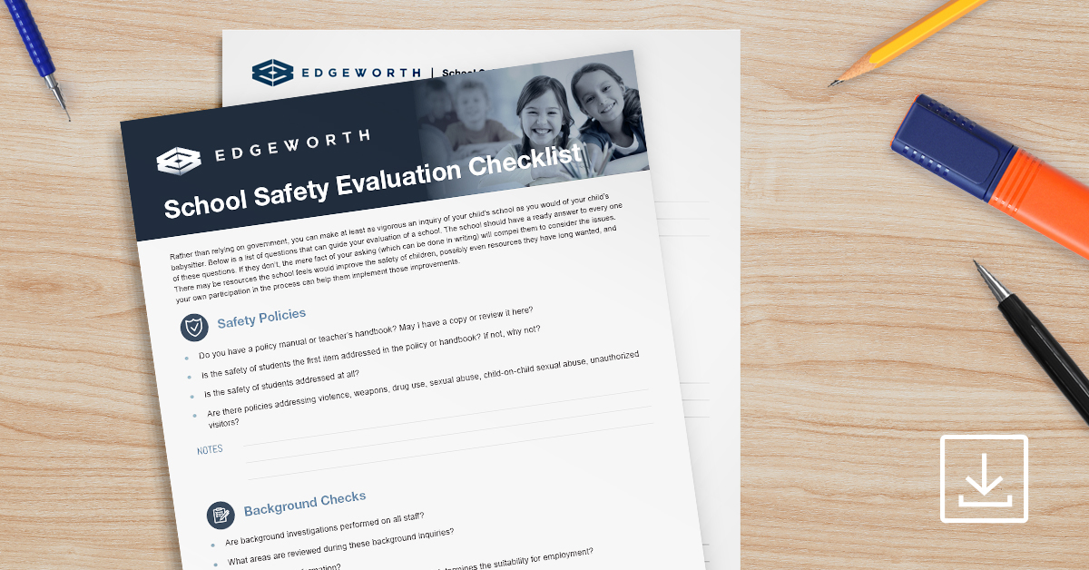 School Safety Evaluation Checklist